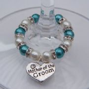 Mother Of The Groom Wine Glass Charm - Full Sparkle Style